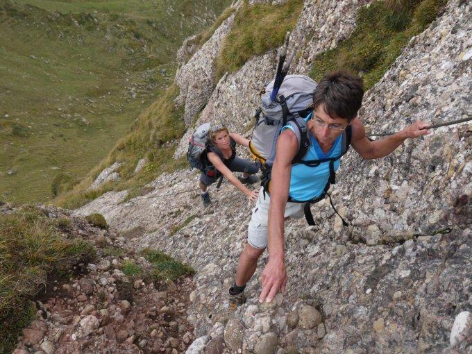 Klettersteig Speer : Klettersteig speer m u über den auf höchsten