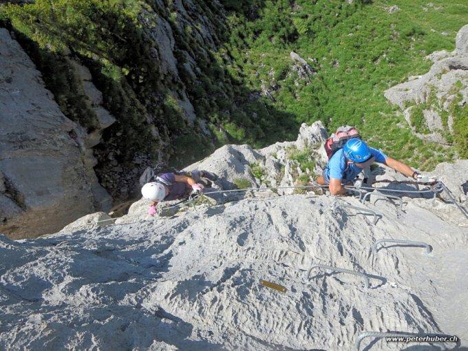 Klettersteig Fruttstägä : Klettersteig fruttstägä scbrunnen