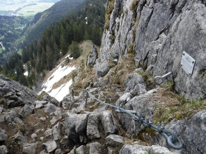 Klettersteig Besler : Gipfelbuch verhältnisse besler m ü