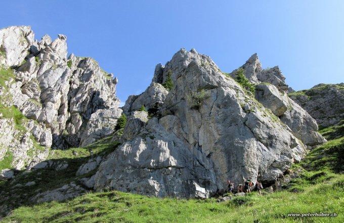 Klettersteig Fruttstägä : Klettersteige k almagellerhorn