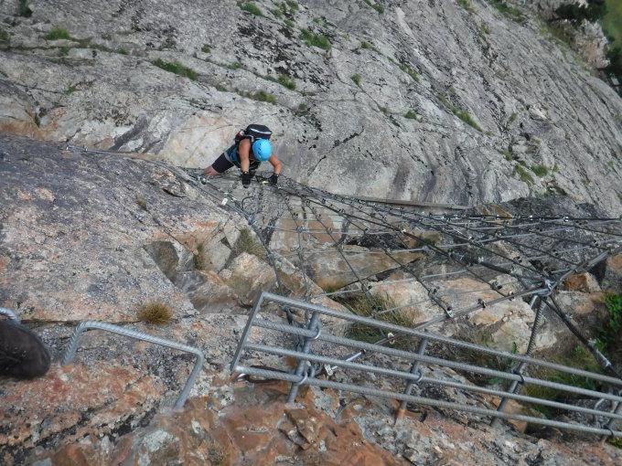 Klettersteig La Resgia : Klettersteige vie ferrate in den alpen