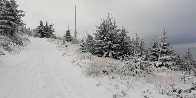 Schneehöhe Hornisgrinde